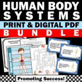 Body Systems BUNDLE Interactive Science Notebooks Worksheets