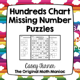 Hundreds Chart Missing Number Puzzles Numbers 101 - 999