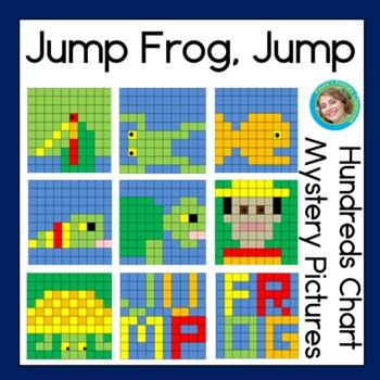 Hundreds chart puzzles inspired by Jump, Frog, Jump