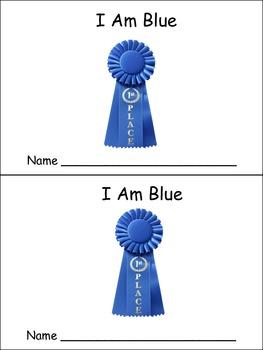 I Am Blue Emergent Reader- Preschool or Kindergarten- Colors Blue