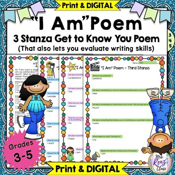 I Am Poem ~ A Great Back to School Get to Know You Poetry
