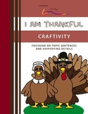Thanksgiving Writing Craftivity – I Am Thankful: Highlight