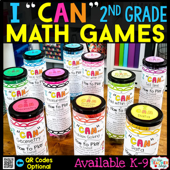 """I CAN"" 2nd Grade Math Game BUNDLE } ENTIRE Year!!! {ALL Standards}"