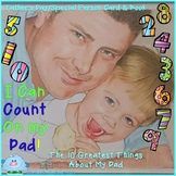 I Can COUNT on my DAD! Father's Day Card and Book Activity