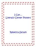 """I Can"" Literacy Center Posters"