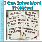 I Can Solve Word Problems Posters