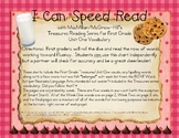 I Can Speed Read {Treasures Unit One}