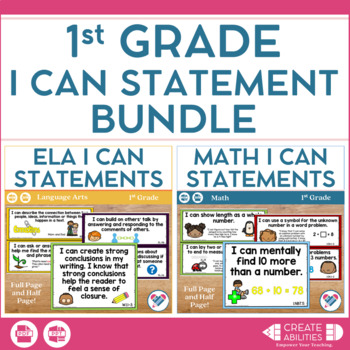 I Can Statements Bundle 1st Grade