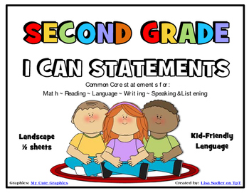 I Can Statements SECOND GRADE Common Core