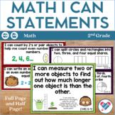 I Can Statements 2nd Grade Math