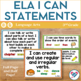 I Can Statements for English Language Arts! 3rd grade ALL