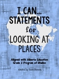 I Can Statements for Looking at Places Unit