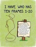 Ten Frames: I HAVE, WHO HAS TEN FRAMES PLANT THEME