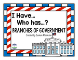 I Have, Who Has Branches of Government Game
