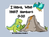 Dino Numbers 0-20... I HAVE, WHO HAS?