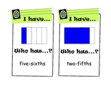 """""""I Have, Who Has?"""" Fractions Game (Easier)"""
