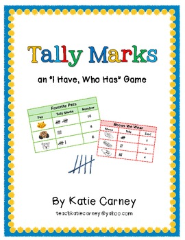 """""""I Have, Who Has?"""" Math Game - Tally Marks (1-20)"""