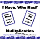 I Have, Who Has? Multiplication Game-Math Centers 3-6
