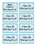 I Have, Who Has Multiplication Game