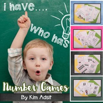 I Have Who Has Number-Dominoes, Fives Frame, Tens Frame, R