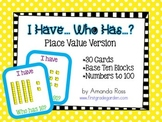 I Have, Who Has: Place Value Math Game