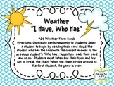 """""""I Have, Who Has"""" Weather Game"""