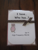 I Have, Who Has ready-made set! High Frequency Words, Set 4