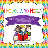 """""""I Have...Who Has...?"""" Library Media Center Orientation Game"""