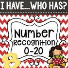 I Have...Who Has {Number Recognition 0-20}