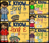 I Know...Long Vowel BUNDLE