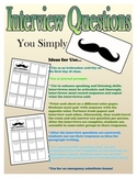 I Mustache You a Question: Interview Sheet Speaking & List