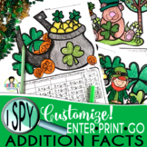 I Spy Addition Facts ~St. Patrick's Day Edition~