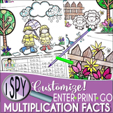 I Spy Multiplication Facts ~SPRING! Edition~