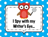 I Spy with my Writer's Eye - Owl Themed