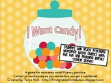 """I Want Candy"" Nonsense Word Fluency Game"
