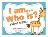 """""""I Am, Who Is"""" Back to School Safari Cards"""