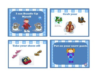 I can Bundle Up Myself- Sequencing Cards
