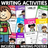 Writing Activities Menu