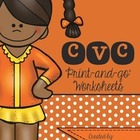 I love Phonics CVC Print and go worksheets