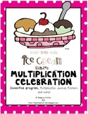 Ice Cream Sundae Multiplication Celebration-Songs, Journal