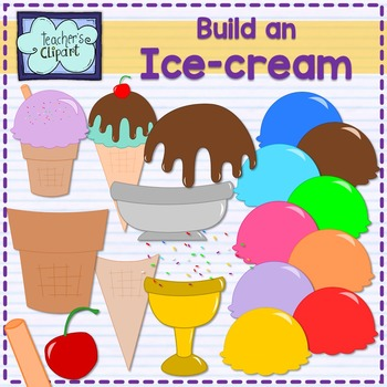 Ice cream cone creator clipart