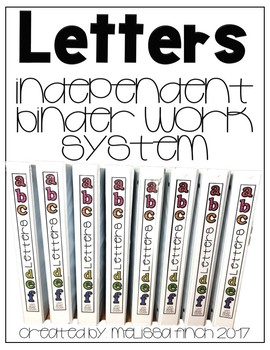 Identifying Letters- T.E.A.C.C.H. Independent Binder Work System