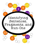 Identifying Sentences Fragments Run-ons Printable Activity