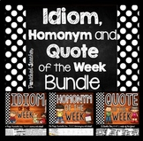 Idiom and Quote of the Week Bundle