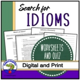 Idioms Search - Find the Idioms in the Story Handout