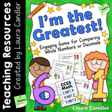 Comparing Numbers Math Game (I'm the Greatest!)