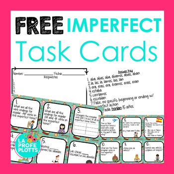 Imperfect Tense Task Cards FREE SAMPLE