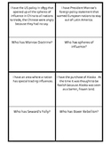Imperialism era vocabulary loop game I have, who has?