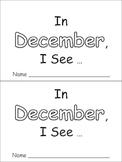 In December Emergent Reader Preschool Kindergarten Months