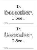 In December Emergent Reader Preschool Kindergarten Months
